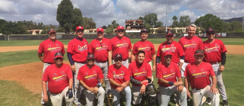 2018 MSBL 55+ AMERICAN DIVISION SUMMER LEAGUE CHAMPIONS NORTH COUNTY CARDINALS