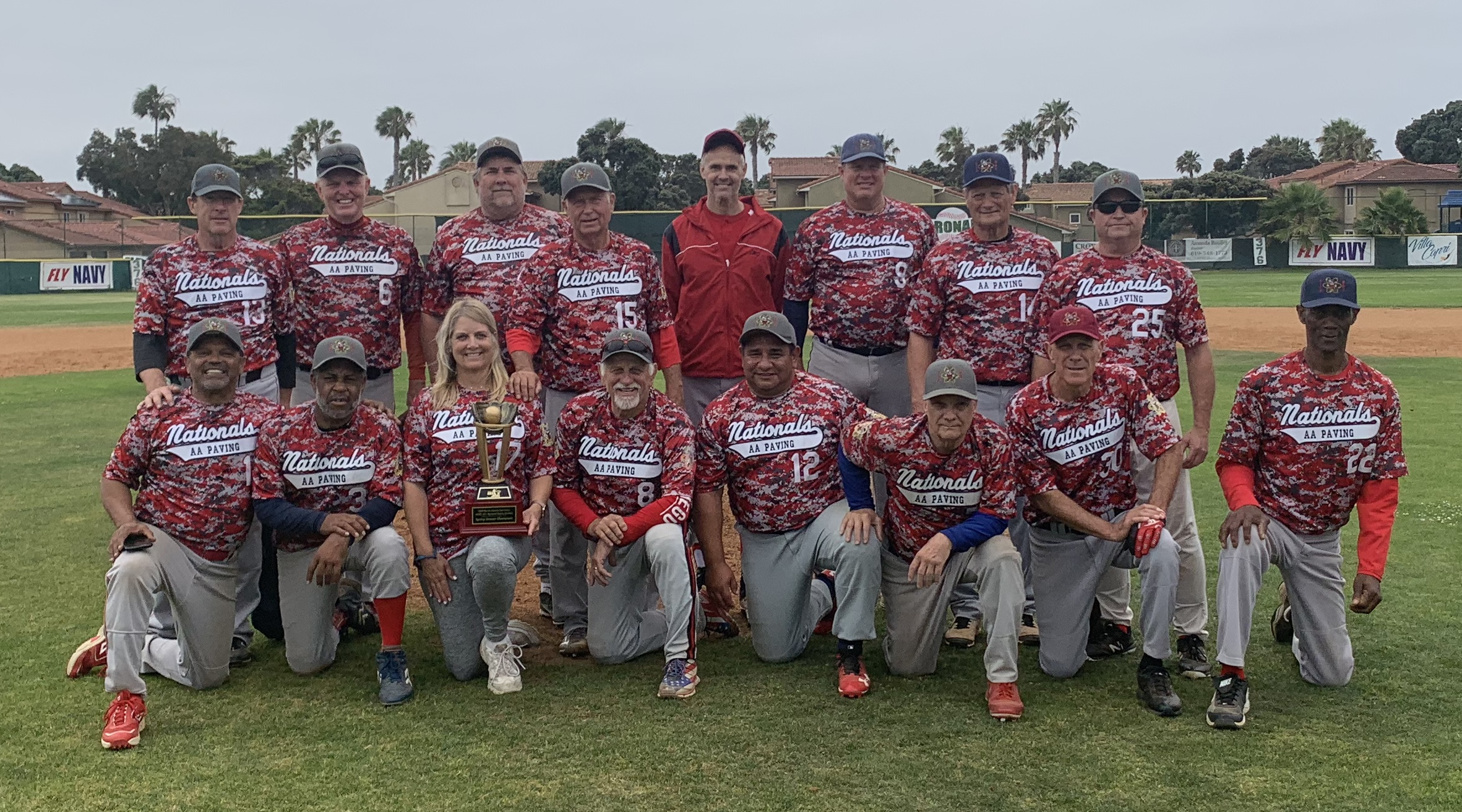 Congratulations to the  AA Nationals, The 2019 MSBL 53+ National Division South Spring Champions