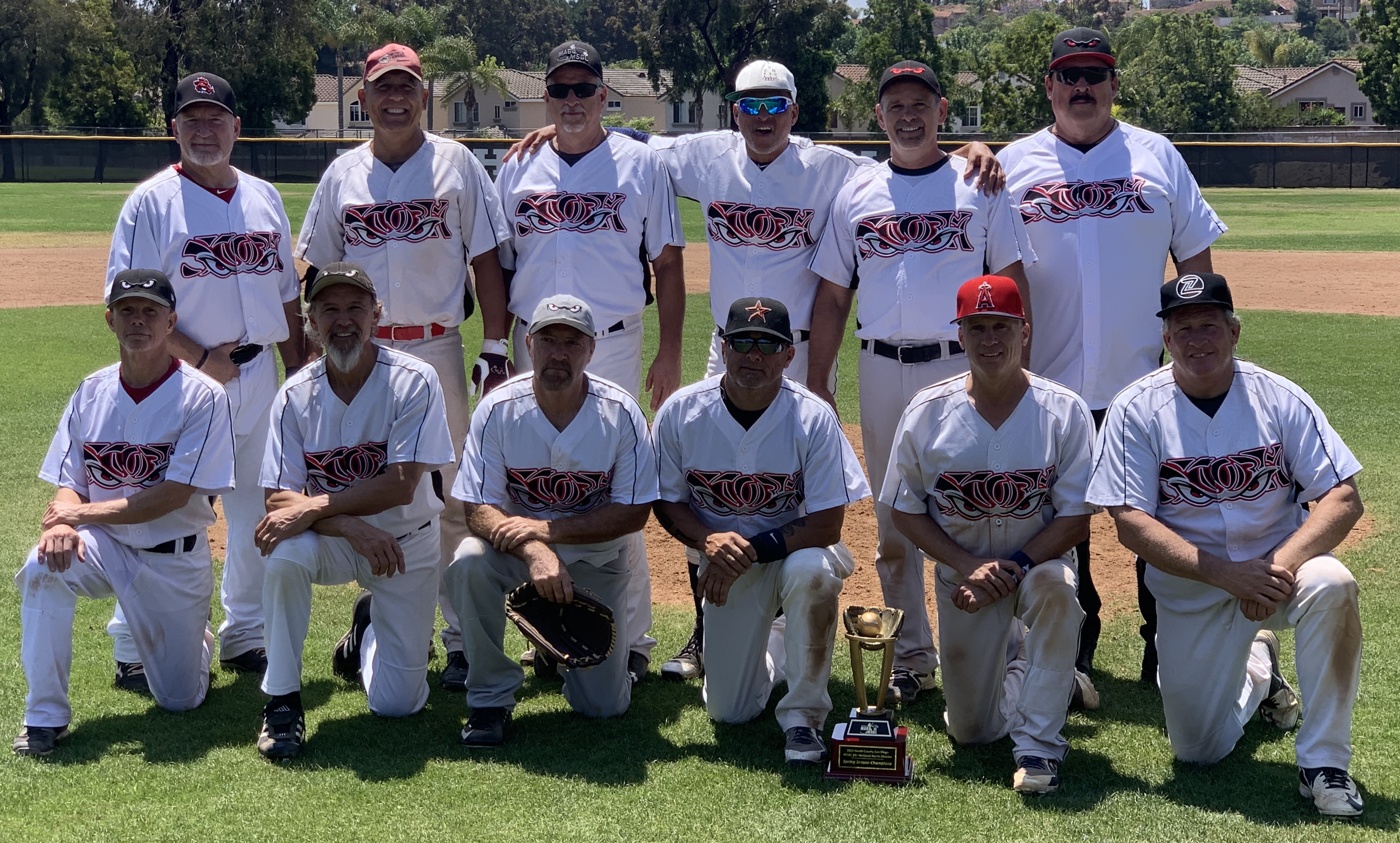 Congratulations to the  North County Storm, The 2019 MSBL 55+ National Division North Spring Champions