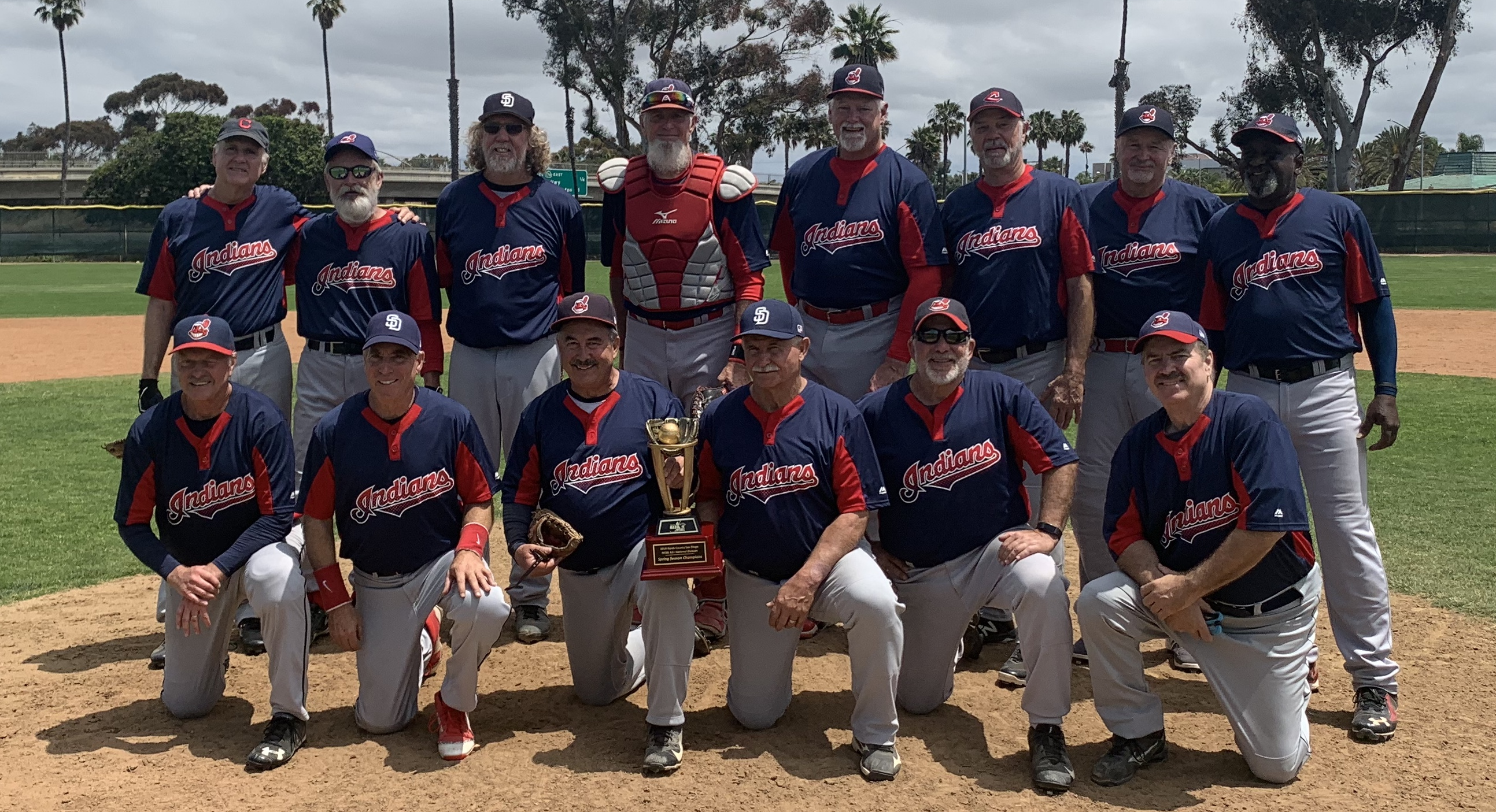 Congratulations to the  North County Indians, The 2019 MSBL 62+ Division  Spring Champions