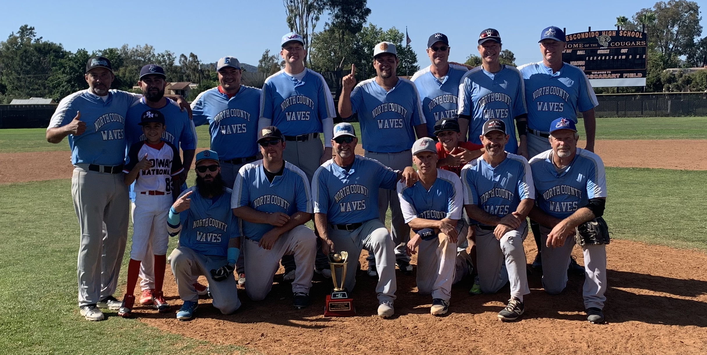 Congratulations to the  North County Waves, 2019 MSBL 35+ Division Spring Champions