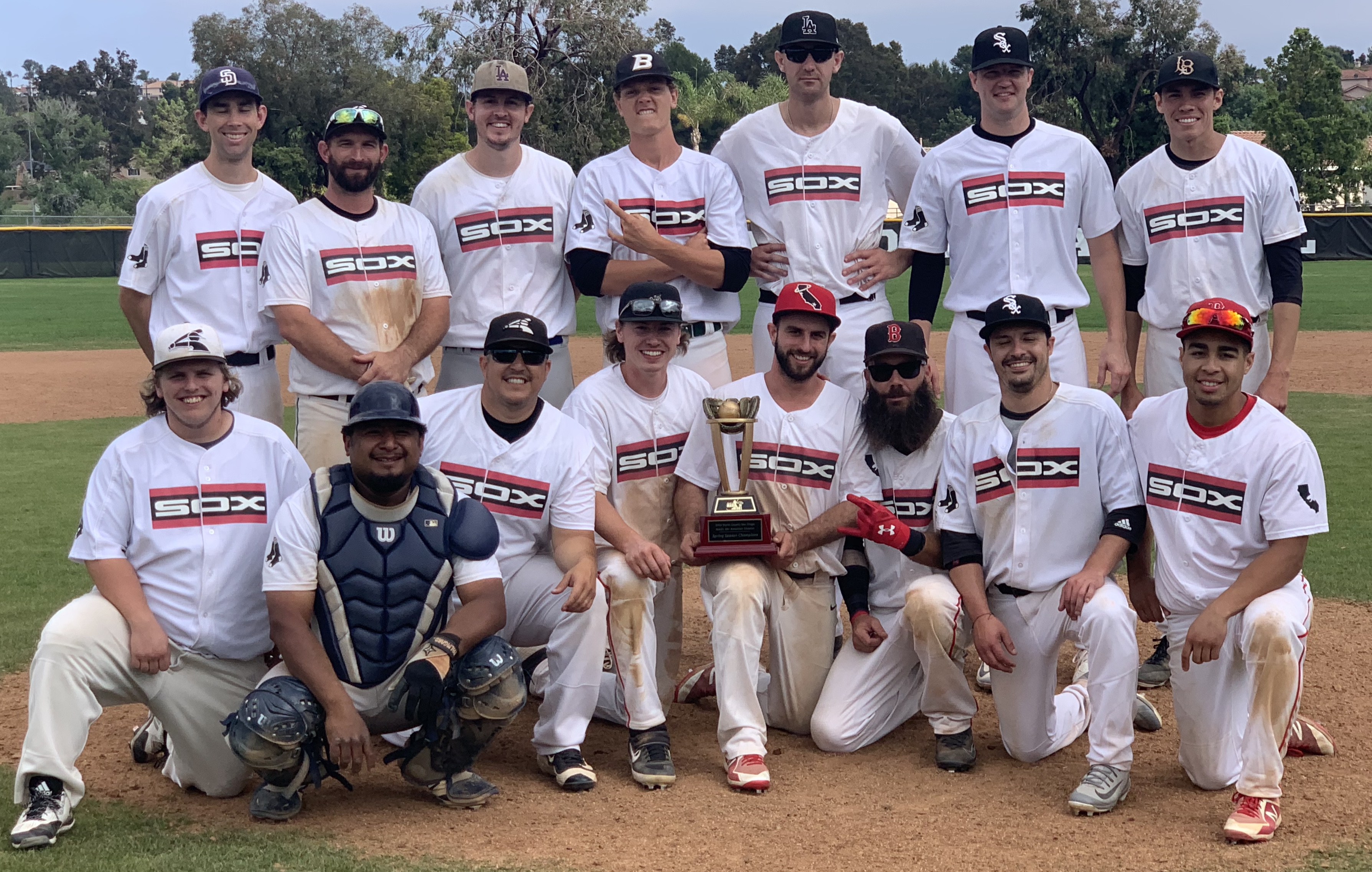 Congratulations to the 18+ Black Sox, 2019 Spring MABL American Division Champions
